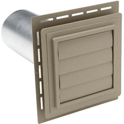 "Ply Gem 7"" x 7"" Clay Vinyl Utility Vents"