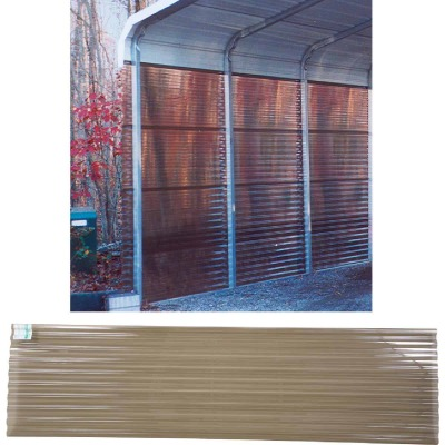 Tuftex PolyCarb 26 In. x 8 Ft. Translucent Smoke Square Wave Polycarbonate Corrugated Panels