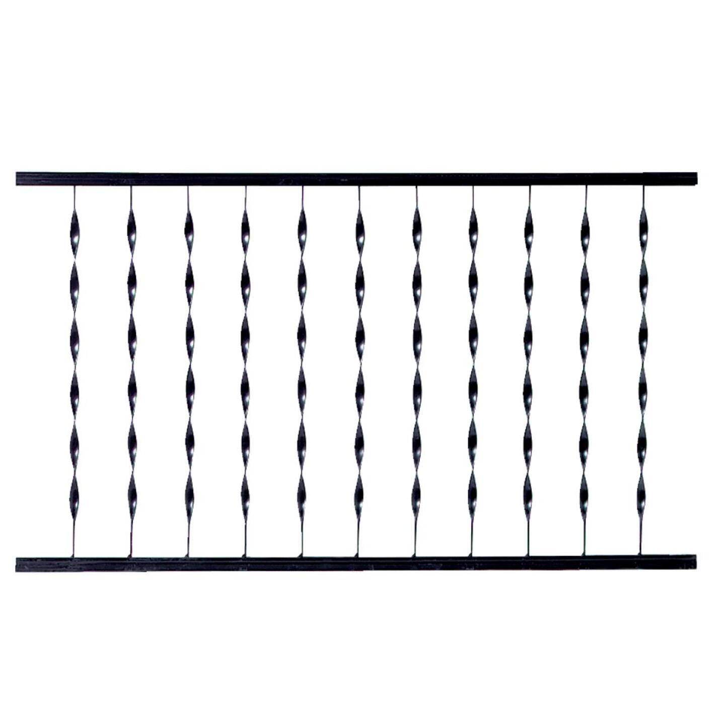 Gilpin Windsor Plus 32 In. H. x 4 Ft. L. Wrought Iron Railing Image 1