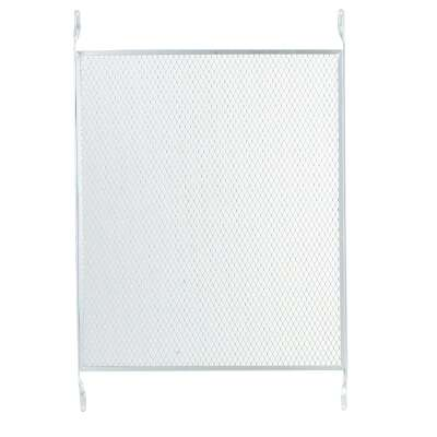 M-D 32 In. x 19 In. Satin Nickel Aluminum Door Grille