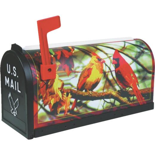 Flambeau No. 1 Cardinal Decorative Plastic Post Mount Mailbox