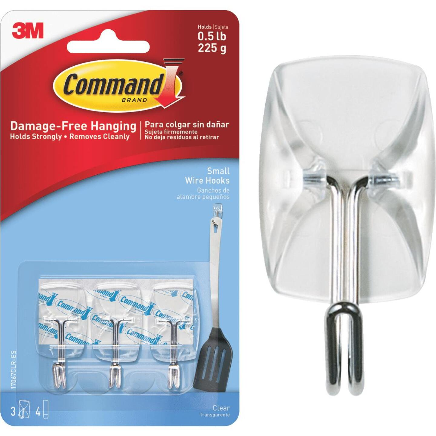 Command Clear Wire Adhesive Hook (3 Pack) Image 1