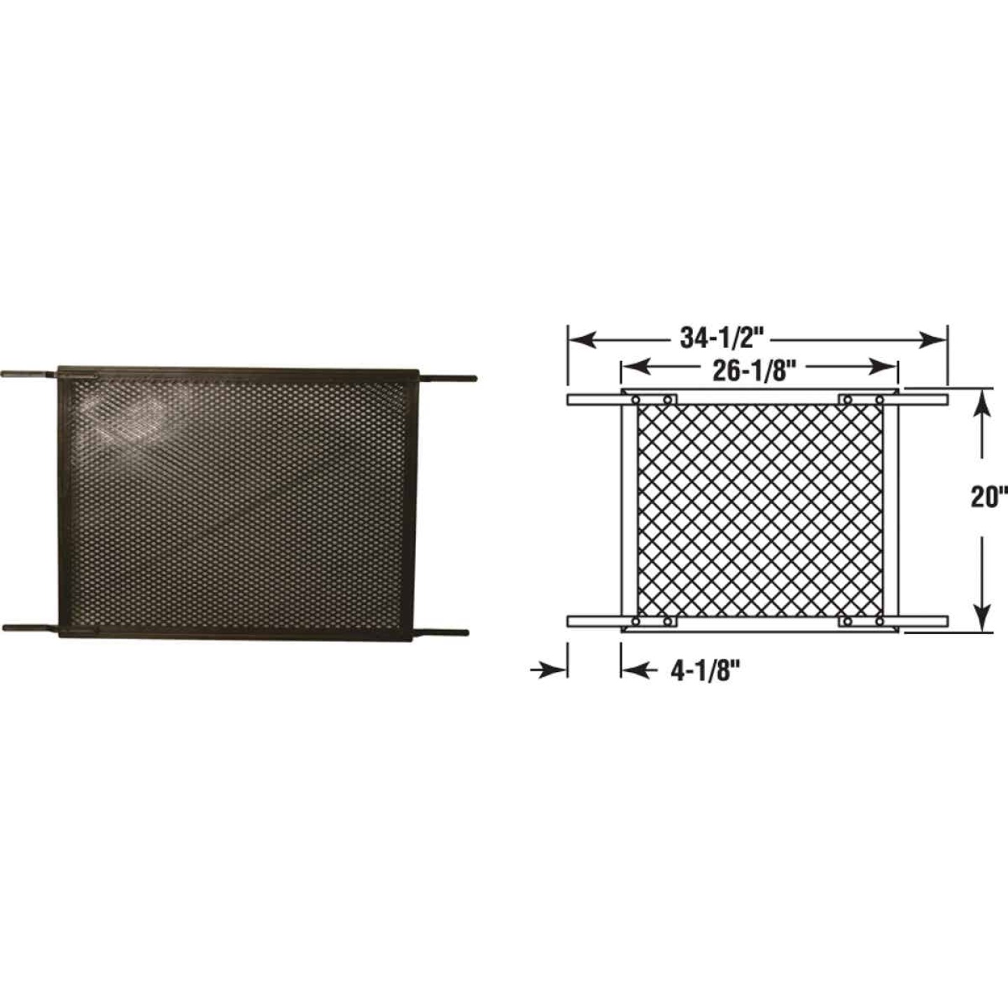 Prime-Line Make-2-Fit 34.5 In. x 20 In. Brown Plastic Door Grille for 36 In. Door Image 1
