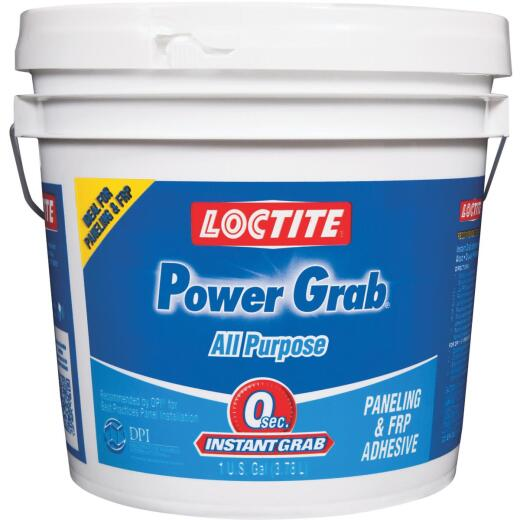 LOCTITE Power Grab 1 Gal. All-Purpose Paneling & FRP Adhesive