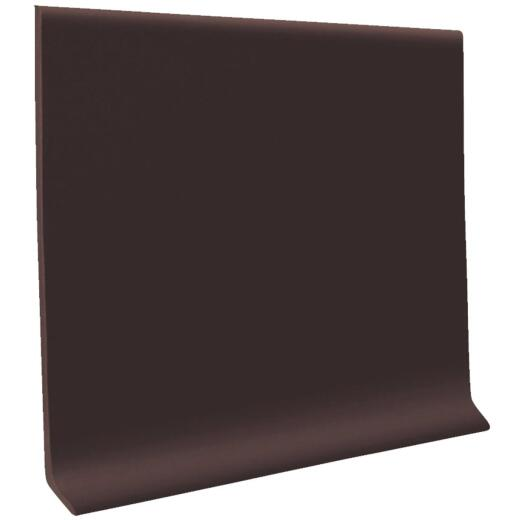 Roppe 2-1/2 In. x 4 Ft. Brown Vinyl Dryback Wall Cove Base