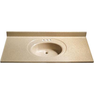 Bertch 49 In. W x 22 In. D Sand Faux Granite Vanity Top with Oval Bowl