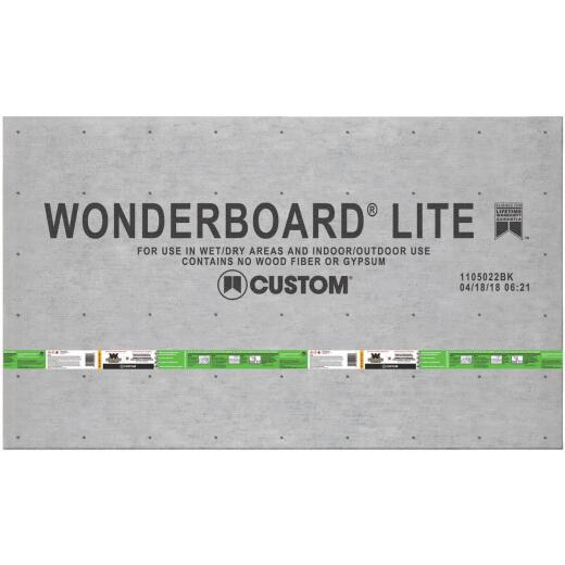 Wonderboard 1/4 In. x 36 In. x 60 In. Backerboard