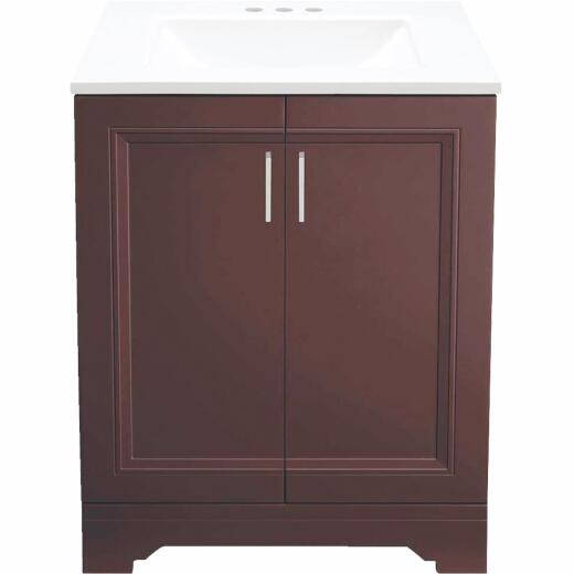 Continental Cabinets Waverly Espresso 24 In. W Vanity with Cultured Marble Top