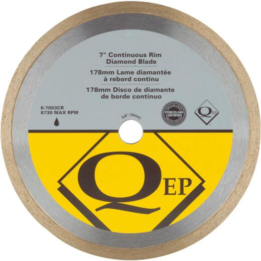 QEP 7 In. Continuous Rim Wet Cut Diamond Blade