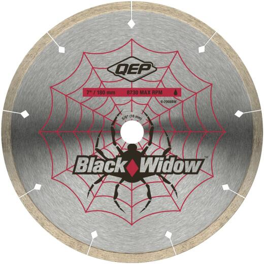 QEP Black Widow 7 In. Segmented Rim Wet Cut Diamond Blade