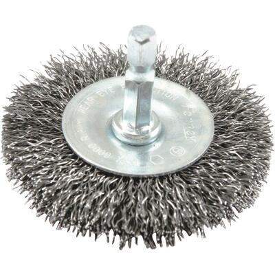 Forney 2-1/2 In. Hex Crimped, Coarse Drill-Mounted Wire Wheel