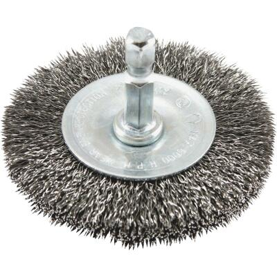 Forney 2-1/2 In. Hex Crimped, Fine Drill-Mounted Wire Wheel