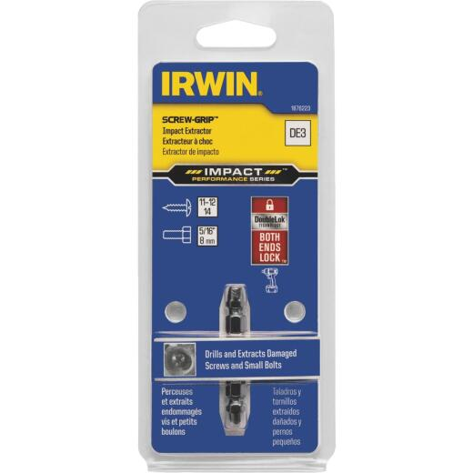 Irwin SCREW-GRIP #3 Impact Double-Ended Screw Extractor