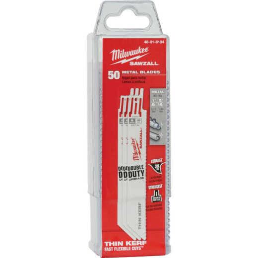 Milwaukee Sawzall 6 In. 18 TPI Metal Reciprocating Saw Blade (50-Pack)