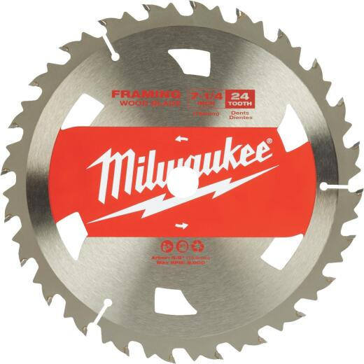 Milwaukee 7-1/4 In. 24-Tooth Standard Framing Circular Saw Blade, Bulk