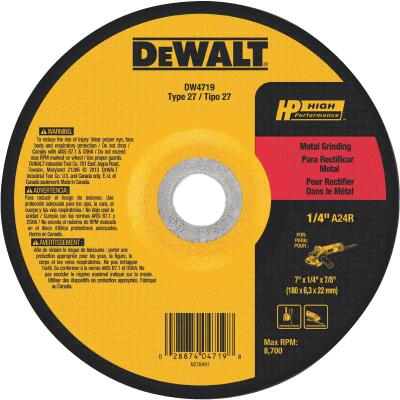 DeWalt HP Type 27, 7 In. Cut-Off Wheel