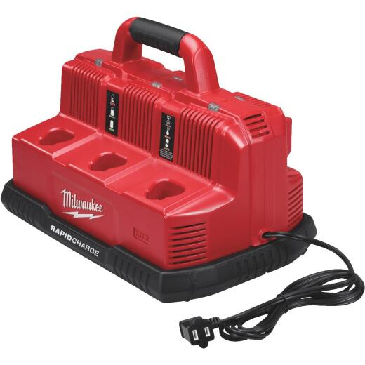 Milwaukee M18/M12 18 Volt and 12 Volt Lithium-Ion Rapid Charge Station Battery Charger