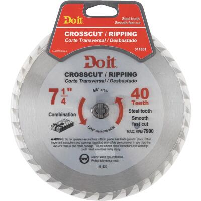 Do it 7-1/4 In. 40-Tooth Cutoff/Rip Circular Saw Blade