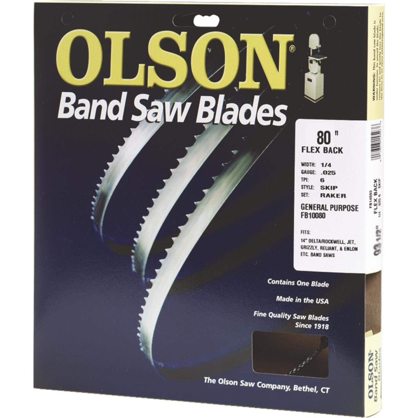Olson 80 In. x 3/16 In. 10 TPI Regular Flex Back Band Saw Blade Image 1