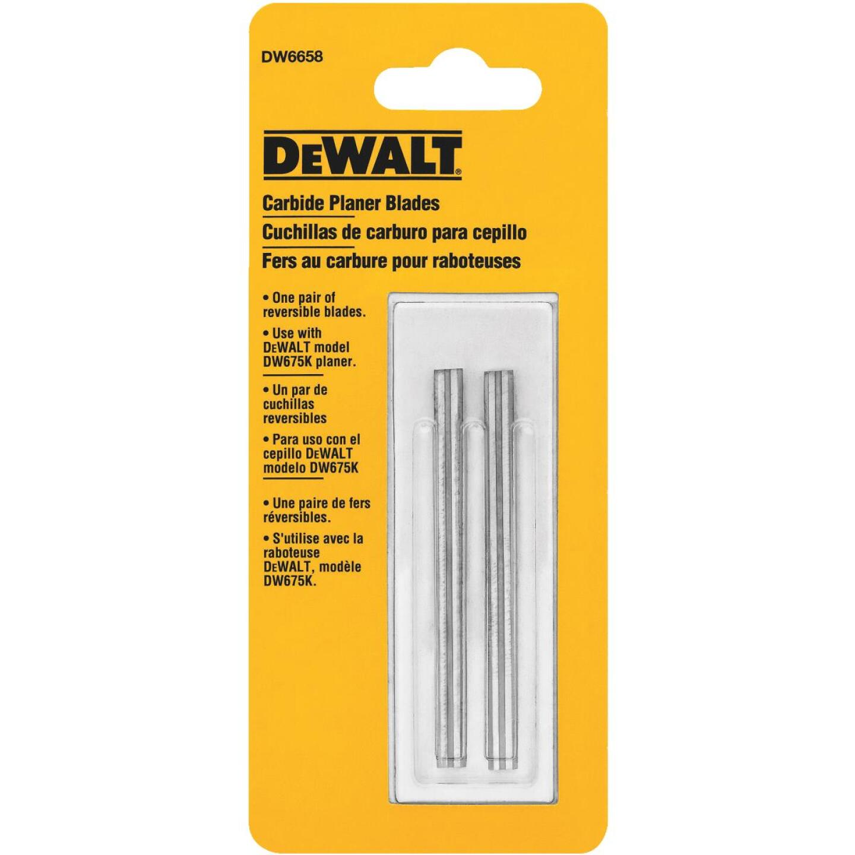 DeWalt 3-1/8 In. Carbide Planer Blade (2-Pack) Image 1