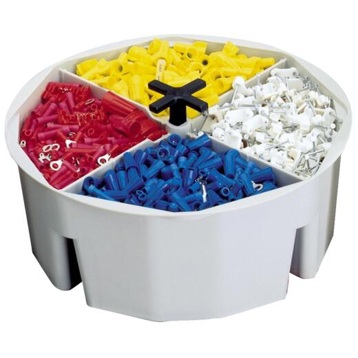 CLC 2.5 In. Full Round Bucket Tray