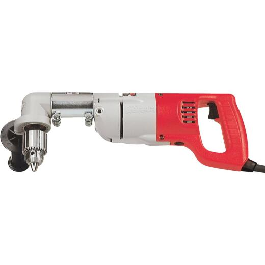 Milwaukee 1/2 In. 7-Amp Keyed D-Handle Electric Angle Drill Kit