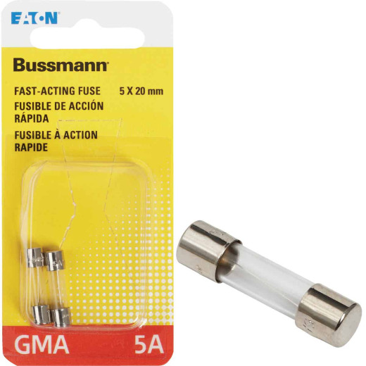 Bussmann 5A GMA Glass Tube Electronic Fuse (2-Pack)