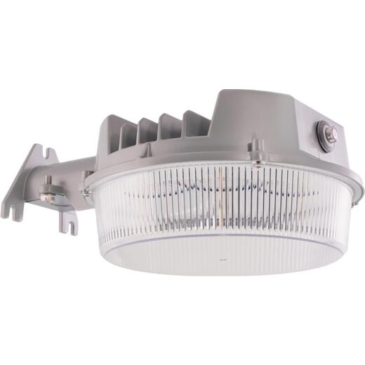 Halo Gray Dusk To Dawn LED Basic Outdoor Area Light Fixture, 2000 Lm.