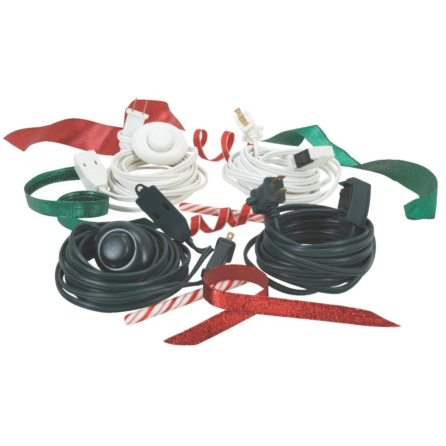 Do it 15 Ft. 18/2 White Extension Cord with Foot Switch Image 2