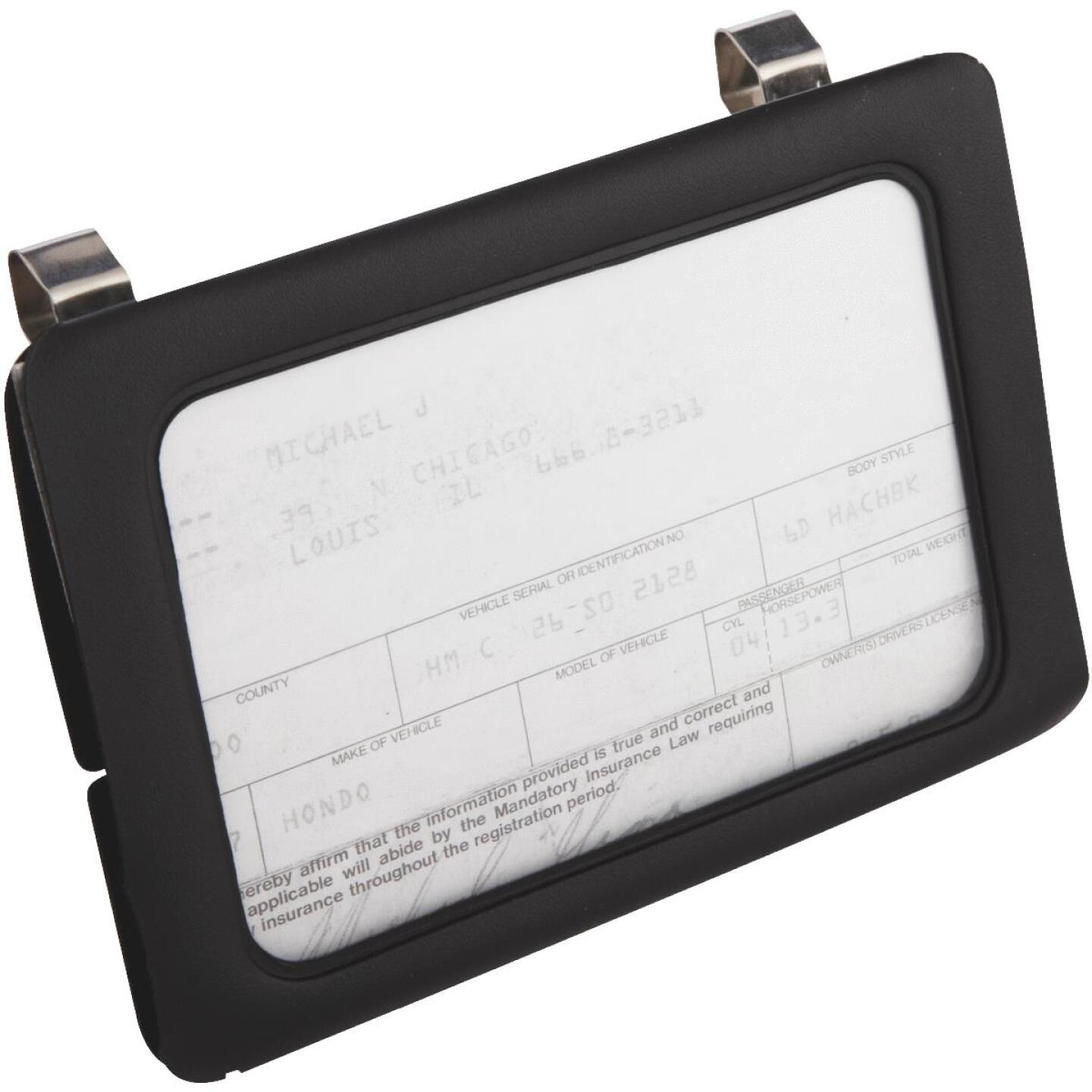 Custom Accessories Clip-On Car Certificate Holder Image 1