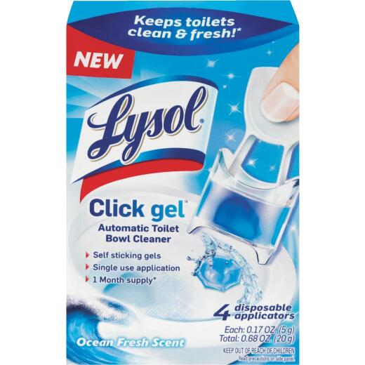 Lysol Click Gel Ocean Fresh Automatic Toilet Bowl Cleaner (4-Pack)