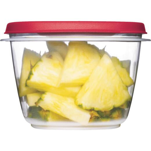 Rubbermaid Easy Find Lids 7 C. Clear Round Food Storage Container