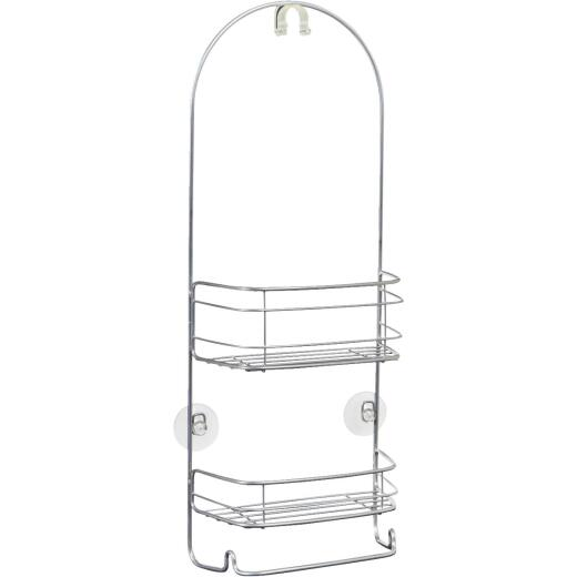 iDesign Rondo 2-Shelf Silver Shower Caddy