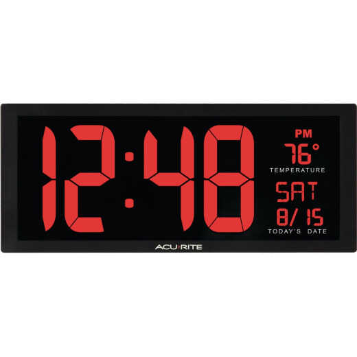 Acurite 14.5 In. Digital Wall Clock