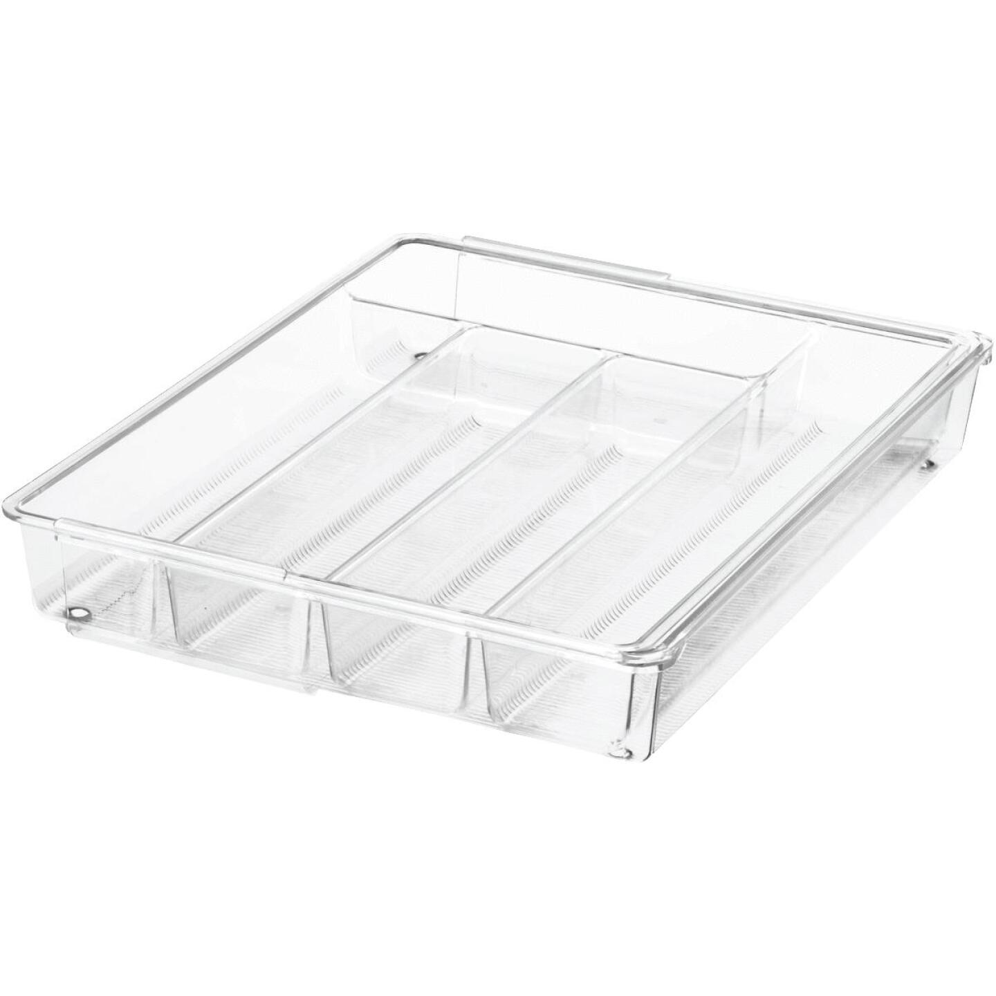iDesign Linus 11.25 In. W. x 14.25 In. L. x 2.25 In. D. Clear Cutlery Tray Image 1
