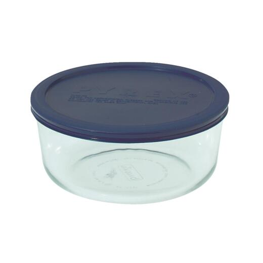 Pyrex Simply Store 7-Cup Round Glass Storage Container with Lid