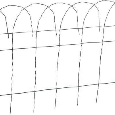 Best Garden 14 In. H x 20 Ft. L Galvanized Wire Decorative Border Fence