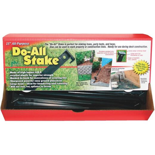 Master Mark Do-All 15 In. Black Plastic Tree and Plant Stake