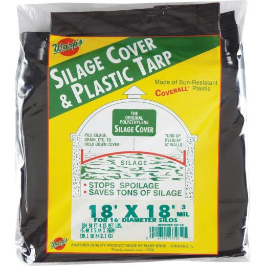 Warp's 18 Ft. X 18 Ft. Coverall Polyethylene 3 Mil. Silage Cover