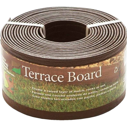 Master Mark 4 In. H. x 20 Ft. L. Brown Terrace Board Lawn Edging