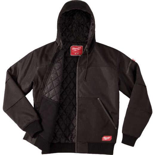 Milwaukee Gridiron Large Black Polyester Hooded Jacket