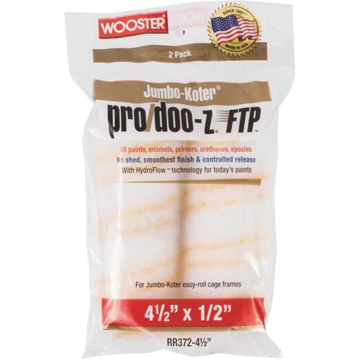 Wooster Jumbo-Koter Pro/Doo-Z FTP 4-1/2 In. x 1/2 In. Mini Woven Fabric Roller Cover (2 Pack)