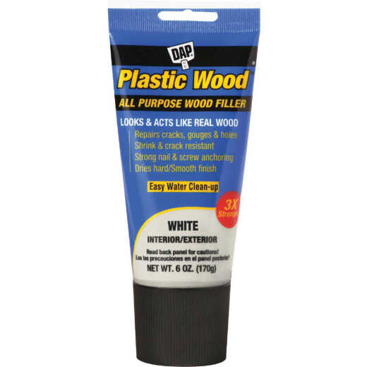 Dap Plastic Wood 6 Oz. White All Purpose Wood Filler