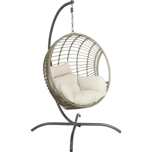 Palmdale Brown Steel Hanging Chair