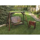 Char-Log 2-Person 90 In. W. x 67.5 In. H. x 50 In. D. Charred Wood Patio Swing Image 6