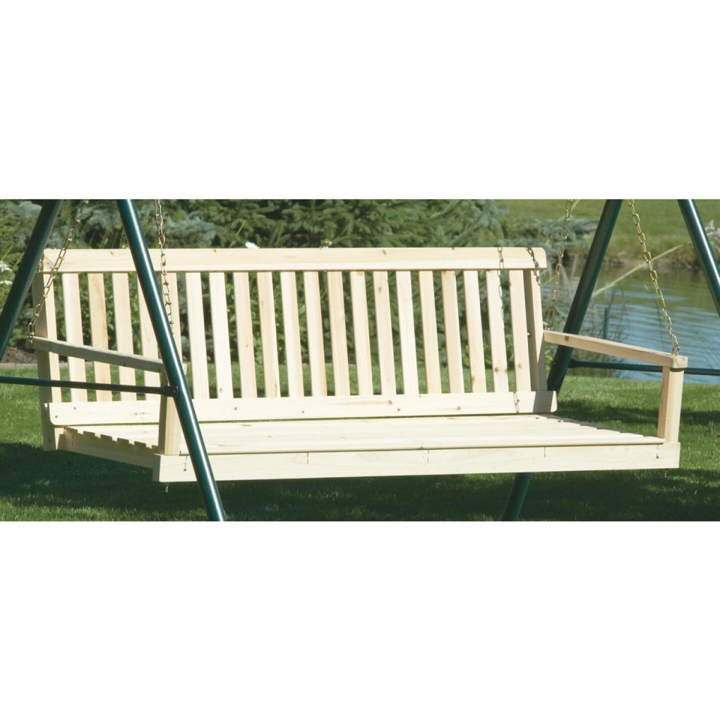 Jack Post Jennings 60 In. W. x 17.5 In. H. x 21-3/4 In. D. Natural Cypress Porch Swing Image 1