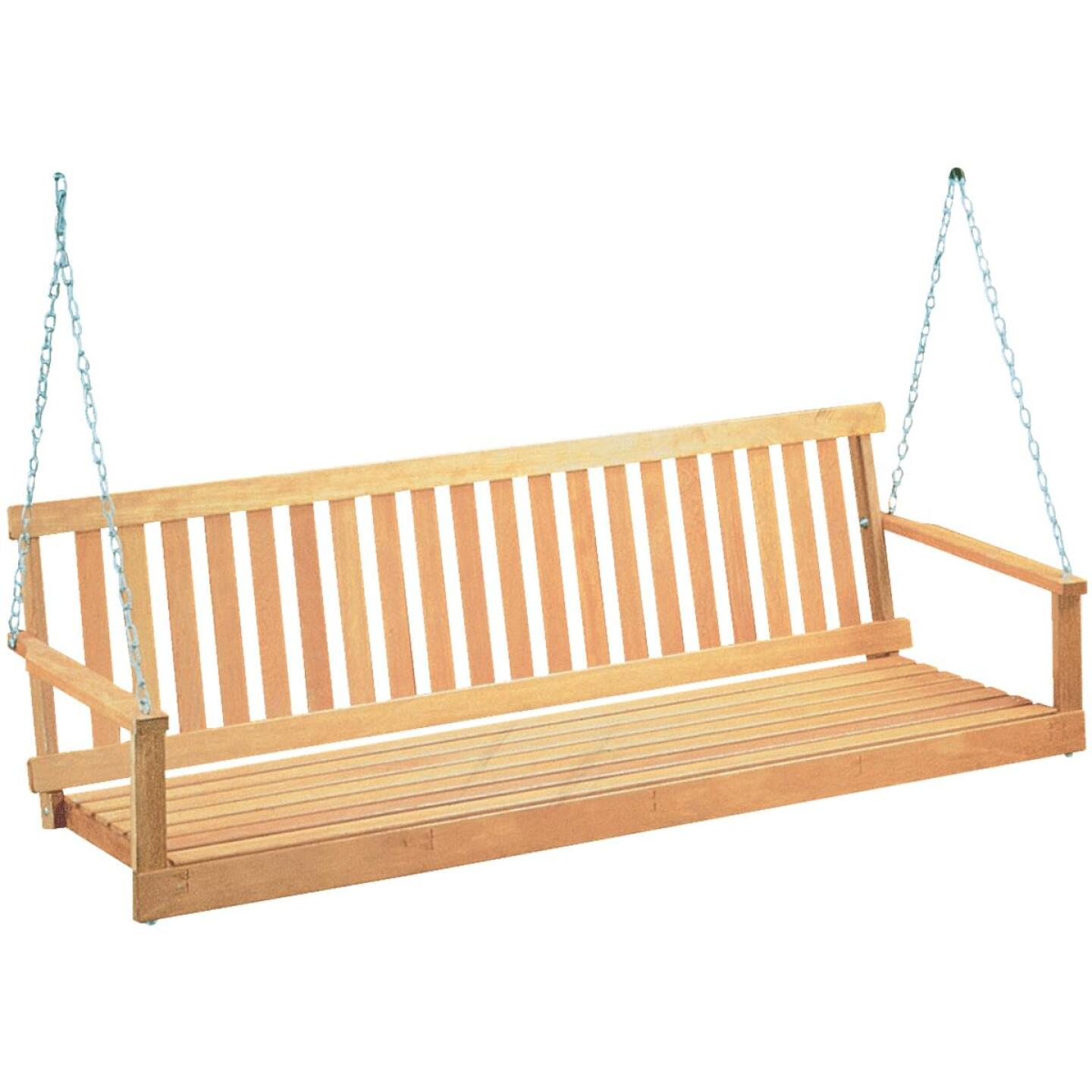 Jack Post Jennings 48 In. W. x 17.5 In. H. x 21-3/4 In. D. Natural Cypress Porch Swing Image 1