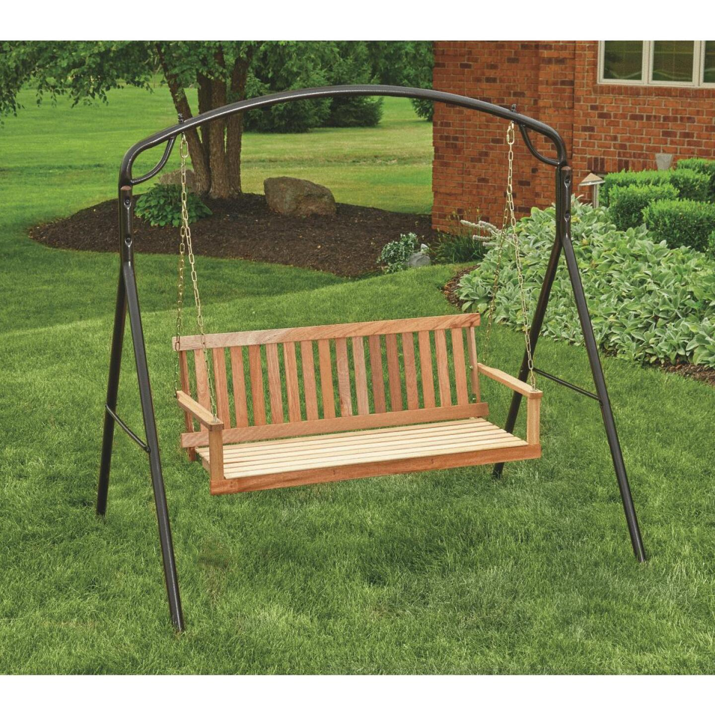 Jack Post Jennings 48 In. W. x 17.5 In. H. x 21-3/4 In. D. Natural Cypress Porch Swing Image 2