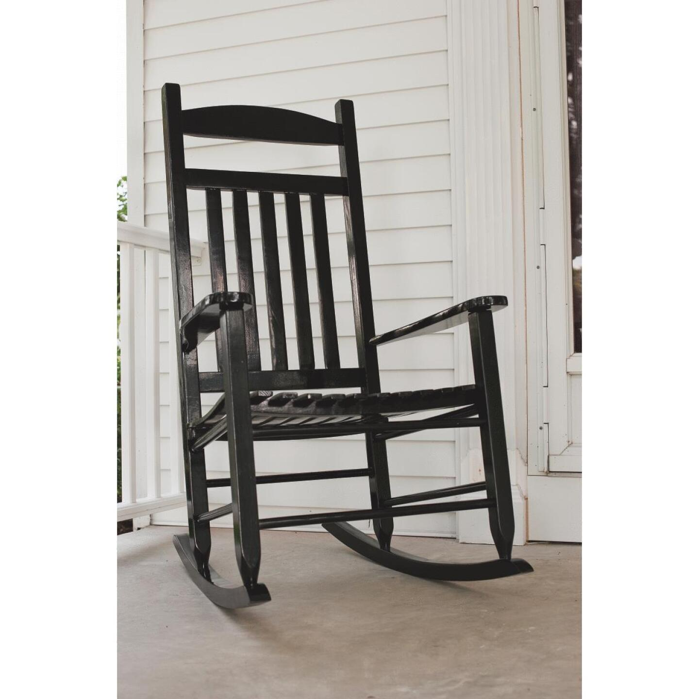 Knollwood Black Wood Mission Rocking Chair Image 2