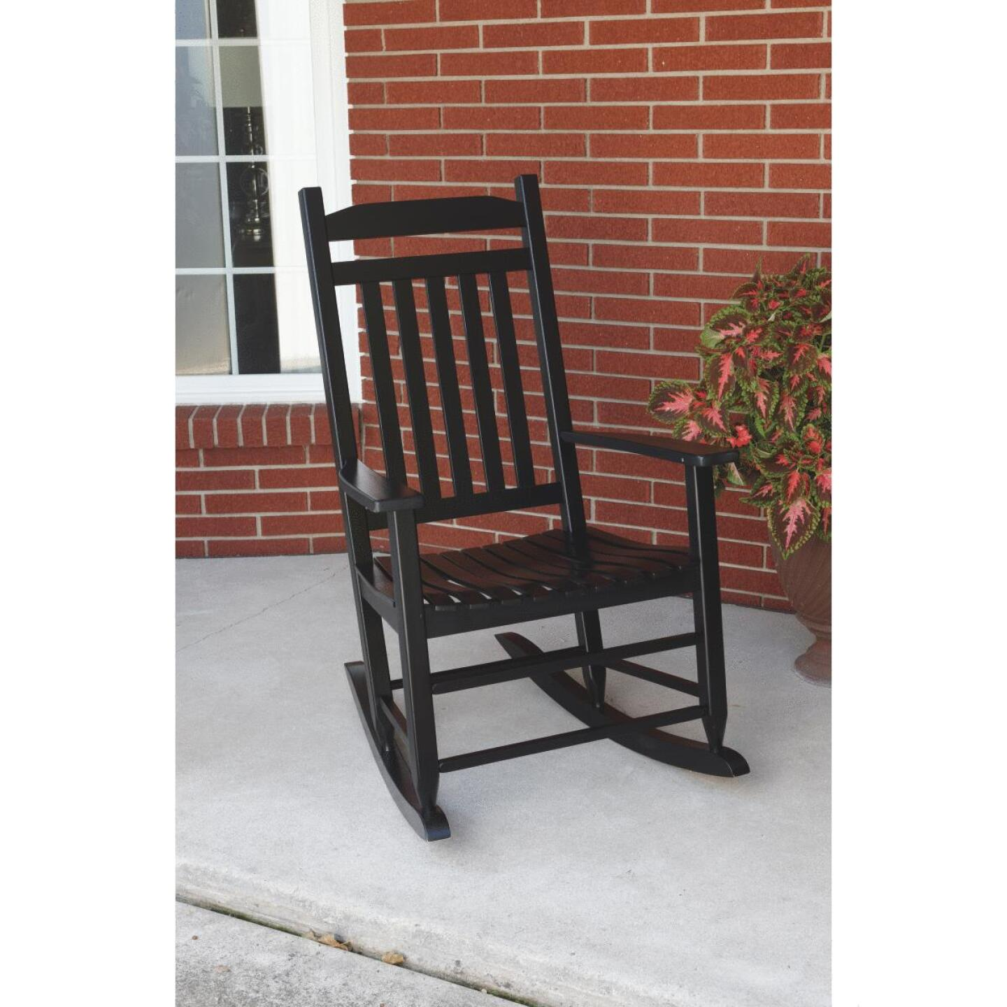 Knollwood Black Wood Mission Rocking Chair Image 5